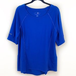 Tangerine Cobalt Blue Athletic Tee ⭐️